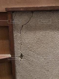 砂壁のひび割れの写真・画像素材[1563748]