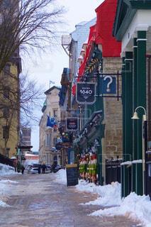 雪に覆われた通りの写真・画像素材[2949827]