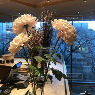 テーブルの上の花瓶の写真・画像素材[2294201]