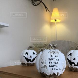 ハロウィンのかぼちゃの写真・画像素材[1566357]