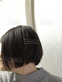 前下がりボブのヘアスタイルの写真・画像素材[3608406]
