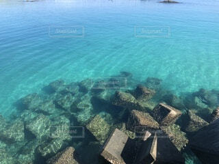 美しい喜界島の海の写真・画像素材[1568024]