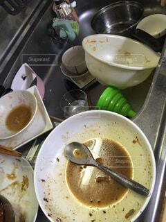 溜まった食器の写真・画像素材[1569545]