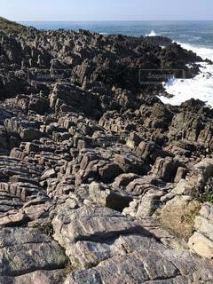 神の島 雄島の柱状節理の写真・画像素材[2303233]