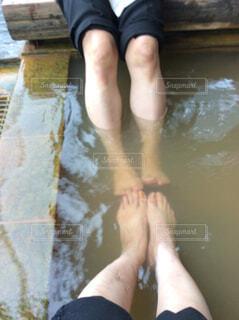 足湯の写真・画像素材[1572259]