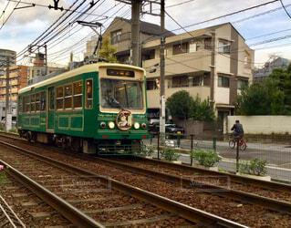 都電荒川線レトロ車①の写真・画像素材[1624417]