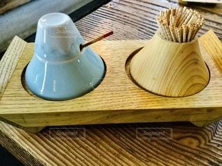 木製の富士山の写真・画像素材[3532622]