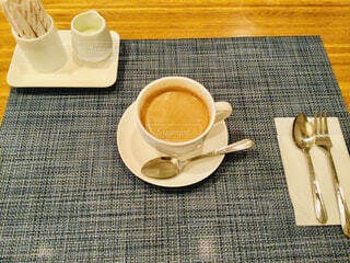 1杯のコーヒーの写真・画像素材[4352448]
