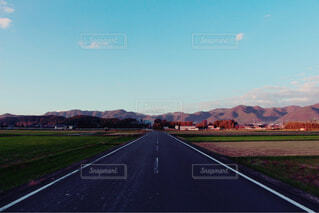 田舎道の写真・画像素材[1603611]
