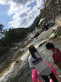 川遊びの写真・画像素材[1574364]