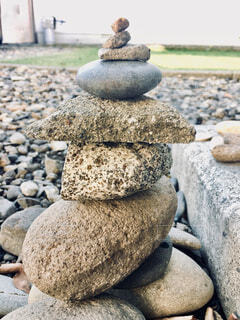 積み石の写真・画像素材[1592851]