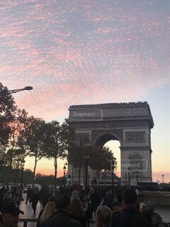 パリの凱旋門の写真・画像素材[1597888]