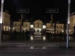 夜のルートヴィヒスブルク城の写真・画像素材[1663349]
