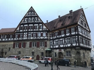 エスリンゲンの木骨組ハウスの写真・画像素材[1663386]