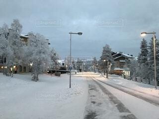 サーリセルカの雪景色の写真・画像素材[1704683]