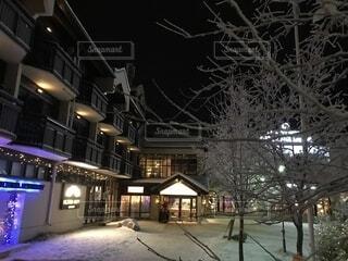 雪に覆われた建物の写真・画像素材[1704687]