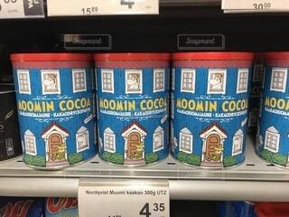 ココアの缶にもムーミンの写真・画像素材[1704737]