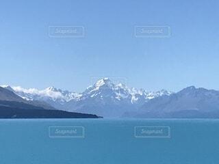 マウントクックとプカキ湖の写真・画像素材[1760957]