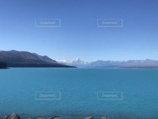 マウントクックとプカキ湖の写真・画像素材[1760958]