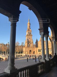 セビリア・スペイン広場の写真・画像素材[3313722]