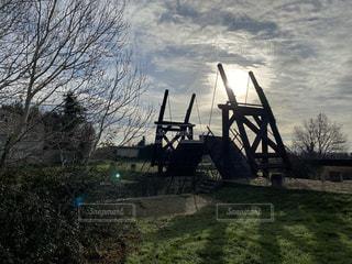 ゴッホの跳ね橋の写真・画像素材[3539729]