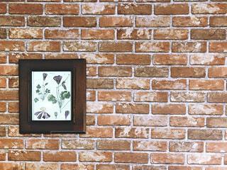 レンガ柄の壁の写真・画像素材[1588080]
