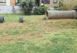 土管とタイヤの写真・画像素材[1593454]