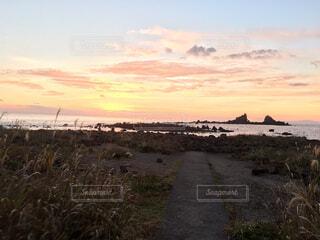 明け方の真鶴半島の写真・画像素材[1597198]