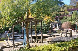 独歩の湯 足湯施設の写真・画像素材[1601665]