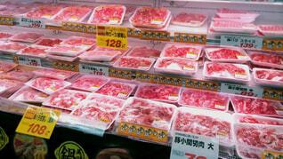 豚肉コーナーの写真・画像素材[1602652]