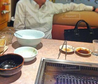 食べすぎサラリーマンの写真・画像素材[1633070]