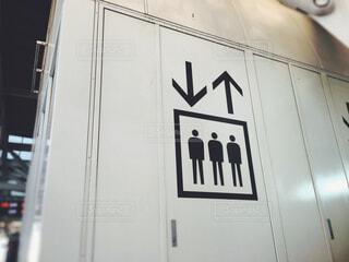 エレベーターのピクトグラムの写真・画像素材[1642343]