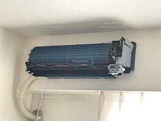 エアコン 分解洗浄の写真・画像素材[2234826]