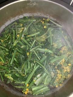 野菜をコンロで鍋の写真・画像素材[1761844]