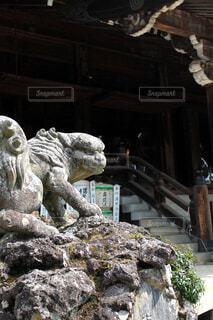 筑波山神社、狛犬の写真・画像素材[2159011]