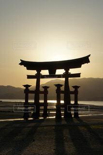 宮島の夕暮れの写真・画像素材[1601166]
