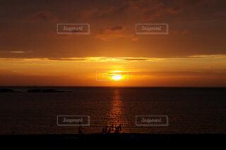 古宇利島で見た夕陽の写真・画像素材[1601845]