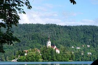 ブレッド湖と聖マリア教会の写真・画像素材[1605827]
