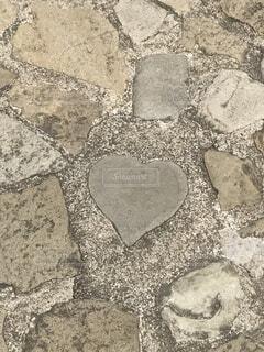 グラバー園にあるハートの石の写真・画像素材[1606632]