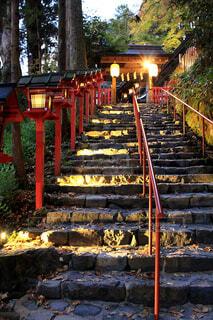 貴船神社の裏参道の写真・画像素材[1619329]