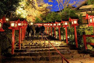 貴船神社の表参道の写真・画像素材[1619332]