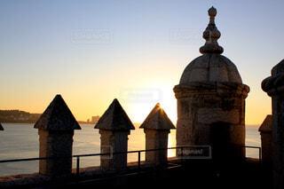 ベレンの塔からみた夕陽の写真・画像素材[1625205]