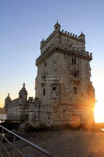 夕方のベレンの塔の写真・画像素材[1625206]