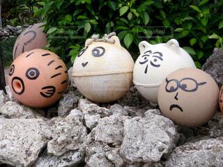 鳩間島の街中で見つけた浮き玉の写真・画像素材[1625923]