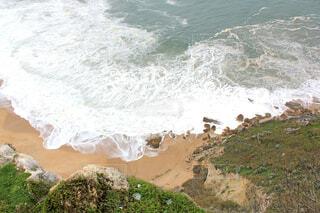 崖から見たナザレの海岸の写真・画像素材[1626217]