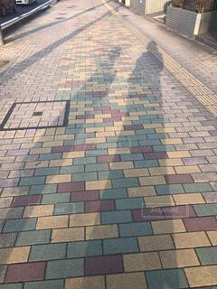 カラフルな舗道の写真・画像素材[1869420]