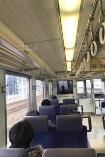 電車の中での写真・画像素材[2005464]