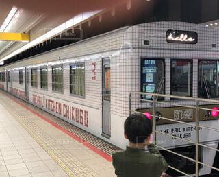 西鉄電車のキッチンカーの写真・画像素材[2072143]