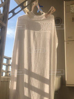 バスタオルを干すの写真・画像素材[2615361]
