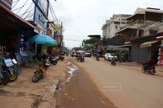 カンボジアの道の写真・画像素材[1650048]